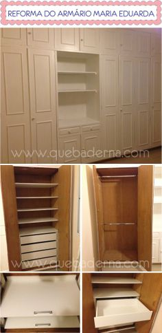 Reforma de armário antigo - DIY - antes e depois