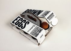 Packaging of the World: Creative Package Design Archive and Gallery: 6 Brown Eggs (Concept)