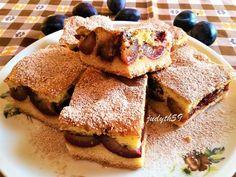 Vanília habos szilvás szelet Pancakes, French Toast, Deserts, Sweets, Cookies, Baking, Breakfast, Recipes, Food