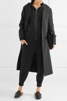 Charcoal cashmere-blend Zip fastening through front 55% cashmere, 40% cotton, 4% nylon, 1% elastane Dry clean Imported