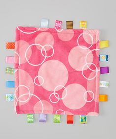 Look at this Pink Bubbles Little Taggies - 12'' x 12'' on #zulily today!