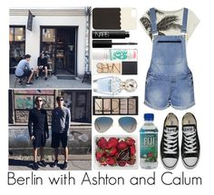 """Berlin with Ashton and Calum"" by sassy-queen01 ❤ liked on Polyvore featuring Converse, Kate Spade, NARS Cosmetics, Maybelline, Marc Jacobs, H&M, Ray-Ban, FRUIT, women's clothing and women's fashion"