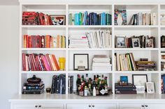 ...and why not incorporate a bar into your bookcase? A California House that Breaks the Design Rules - Home Tour - Lonny
