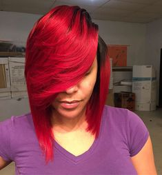 Weave-Red-Bob Best Bob Hairstyles for Black Women Pictures in 2019 - My list of womens hair styles Medium Bob Hairstyles, Sleek Hairstyles, Black Women Hairstyles, Weave Hairstyles, Hairstyles Pictures, Bob Haircuts, Hair Styles 2016, Medium Hair Styles, Short Hair Styles
