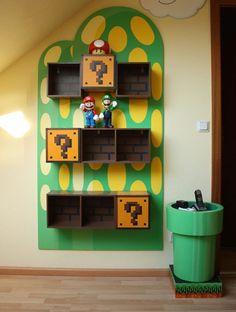 Funny Kids Bookshelves Mario Theme