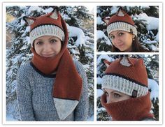 DIY Crochet Fox Hat And Scarf Combo with Free Pattern