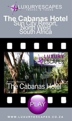 The Cabanas Hotel, Sun City Resort in North West province of South Africa is an informal and comfortable family hotel with a wide range of child activities and entertainment. The hotel has recently been refurbished and is cheerfully decorated in bright colours and has a relaxed and casual feel. Perfect for families! Watch on https://youtu.be/9BVHRm8CAo8