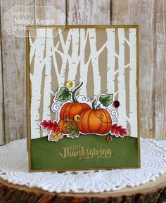 34 Sweet and Simple DIY Thanksgiving Cards Design - Onechitecture Diy Thanksgiving Cards, Fall Cards, Holiday Cards, Happy Thanksgiving, Thanksgiving Projects, Making Greeting Cards, Greeting Cards Handmade, Halloween Cards, Fall Halloween
