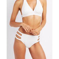 e2b22f6800 Charlotte Russe Caged Bikini Bottoms ( 13) ❤ liked on Polyvore featuring  swimwear