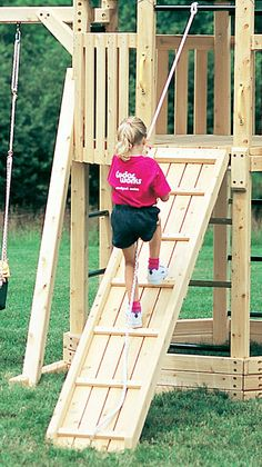 Slides and Ramps: Revelry Swing Set, Play Set Accessories Cedarworks Kids Outdoor Play, Outdoor Play Areas, Kids Play Area, Backyard For Kids, Outdoor Fun, Garden Kids, Outdoor Games, Backyard Playground, Backyard Games