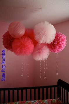 Tulle pompoms for our bedroom :)