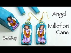 Angel Millefiori Cane - Polymer clay tutorial - YouTube