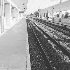 The journey is the destination #travellers#travelgram#train#waiting#rails#railwaystation#farsala#greece#endofholidays#destinations by thodoris_m