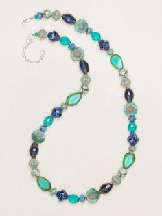 Waterscape Necklace - Turquoise - 12372