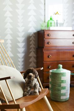 Simple Toddlers Room. Love the German Shorthair Pointer stuffed animal! {via betzdesignstudio.com}