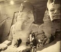 A rare early photos of the so-called Ramses II before the noses were smashed off...