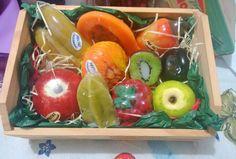 Caixote de frutas para banho