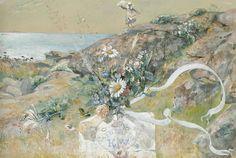 Carl Larsson (SWEDISH, 1853 - 1919). GRATULATIONER FRÅN KATTEGATT (CONGRATULATIONS FROM KATTEGAT). Watercolour, 39 х 56.5 cm.