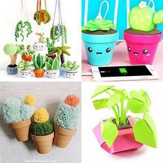 Cute Easter Bunny, Cute Diys, Craft Kits, Needle Felting, Planter Pots, Cross Stitch, Super Cute, Diy Crafts, Kawaii