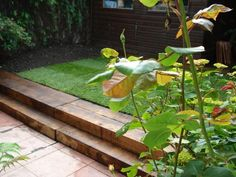 railway sleepers in gardens - Google Search