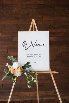 Custom Wedding Art Printable Outdoor Wedding Sign Minimalist wedding Modern White wedding Printable wedding design Custom names Outdoor Wedding Signs, Wedding Signage, Wedding Art, Outdoor Weddings, Trendy Wedding, Wedding Ceremony, Wedding Menu, Decor Wedding, Elegant Wedding