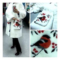 СНЕГИРИ !!! Пальто из белоснежной норочки с карманами! Очень нарядное Пока - первое! Таких пальто вобще будет немного, работа очень кропотливая