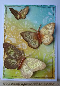 ATC - gorgeous colours. For My handmade greeting cards visit me at My English Personal blog: http://stampingwithbibiana.blogspot.com/