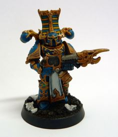 Thousand Sons Rubric Marine with Warpflamer for Warhammer 40,000
