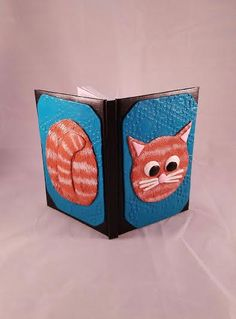 Kitty journal, Orange tabby journal, hardbound journal, blank notebook, cat notebook, personalized journal,  polymer clay journal, cat art - pinned by pin4etsy.com