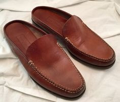 Cole Haan Women's Mules Shoes 9B US Brown Preowned #ColeHaan #Mules