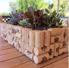 DIY wine cork dollar store planter box 12 diy wine cork crafts Where are all my fellow wine lovers at This is amazing I love this craft idea Turn wine corks into awesome. Wine Craft, Wine Cork Crafts, Wine Bottle Crafts, Jar Crafts, Wine Bottles, Crafts With Corks, Wine Bottle Planter, Diy With Corks, Diy Crafts For Home