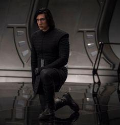 Kylo Ren in Snoke's throne room from Star Wars: The Last Jedi.