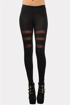 Line Up Mesh Legging - Black
