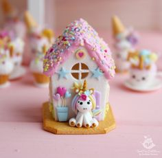 – Hobbies paining body for kids and adult Polymer Clay Dolls, Polymer Clay Miniatures, Handmade Polymer Clay, Clay Christmas Decorations, Christmas Crafts, Xmas, Diy Galaxy Jar, Unicorn Foods, Christmas Gingerbread House