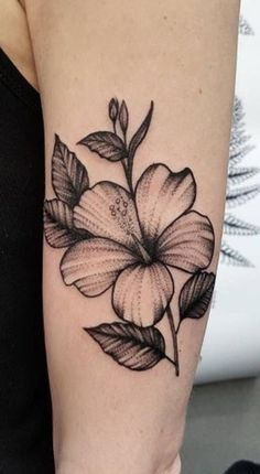 Tropical Flower Tattoos, Hibiscus Tattoo, Small Flower Tattoos, Flower Tattoo Designs, Badass Tattoos, Love Tattoos, Body Art Tattoos, New Tattoos, Tatoos