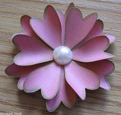 Use a heart punch to make the Funky Heart Flower! This is an easy DIY paper flower.