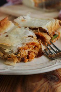 El blog de Ana H: Lasaña de pasta filo o brick con marisco y verduras