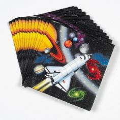 Space birthday party supplies, favors, and even food - probably the coolest site I've seen for anything space-related! (The Space Store) Fourth Birthday, 4th Birthday Parties, Boy Birthday, Birthday Ideas, Kids Party Decorations, Party Ideas, Outer Space Party, Party Napkins, Party Time