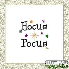 Hocus Pocus Stars Spells Magic Dust Halloween by BettyLaneDesign