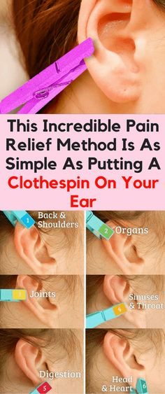 This Incredible Pain Relief Method Is As Simple As Putting A Clothespin On Your Ear - Workout Hit