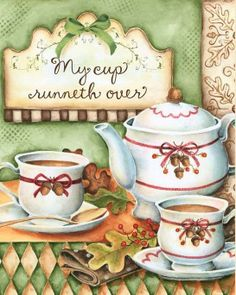 My cup runneth over with simple pleasures & an abundance of Love ~ God's most richest of blessings...!! Laura