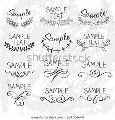 Decorative Elements : Hand Drawn Vector Illustration
