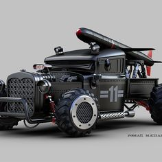 At least when the day cone's that we're under attach I'll have my Rocket launcher Cocked,,loaded,,An ready for action! Cool Trucks, Cool Cars, Automobile, Luxury Car Brands, 3d Studio, Vintage Trucks, Armored Vehicles, Classic Trucks, Custom Cars