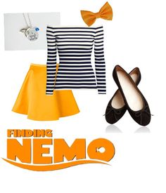 Finding Nemo Disneybound skirt outfit