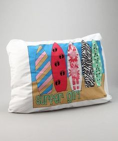 Personalized Surfer Girl Pillow Case