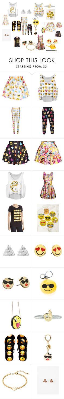 """emoji"" by haileyjbault on Polyvore featuring Chicnova Fashion, WithChic, Kim Seybert, Rock 'N Rose, Kate Spade, Gemma Crus and Full Tilt"