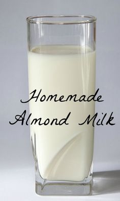 Homemade almond milk is so easy to make! Seriously! Otherwise, I wouldn't do it! I choose to make my own in order to avoid the carrageenan in store-bought brands.