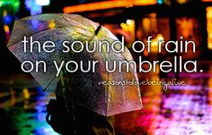 i just like standing in the rain :3 forget the umbrella :D