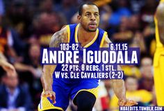 In his first start all season, Andre Iguodala makes the most of it #Game4 #2015Playoffs #TheFinals