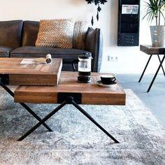 By-Boo Square Salontafel – 80 cm - Salontafels - Tafels - Sfeer.nl, meubelen en woonaccessoires